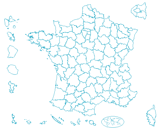 Carte de France des départements
