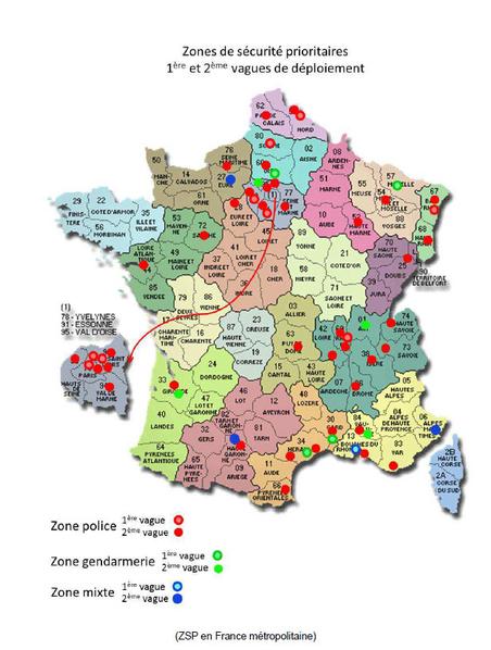 Carte des 49 ZSP