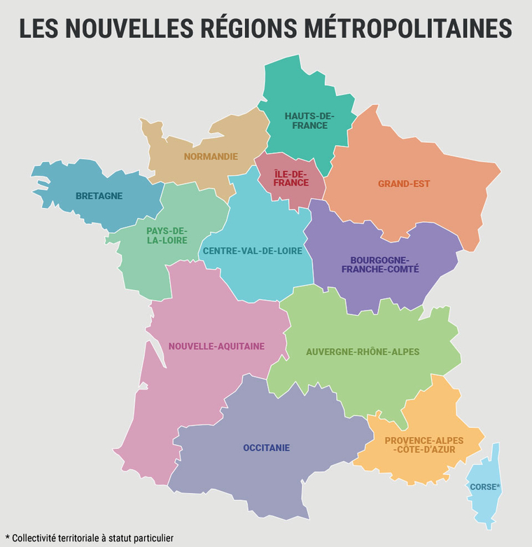 nouvelles regions francaises - Photo