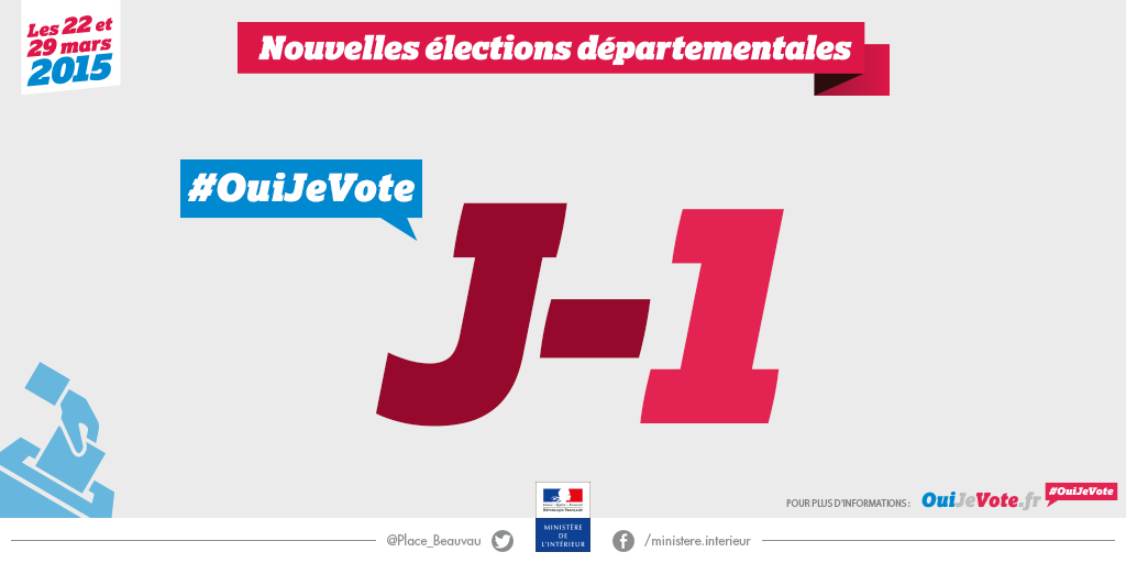 J 1 d partementales 2015 elections citoyennet for Election ministere interieur