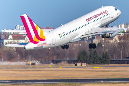 Photo d'un avion de la compagnie Germanwings