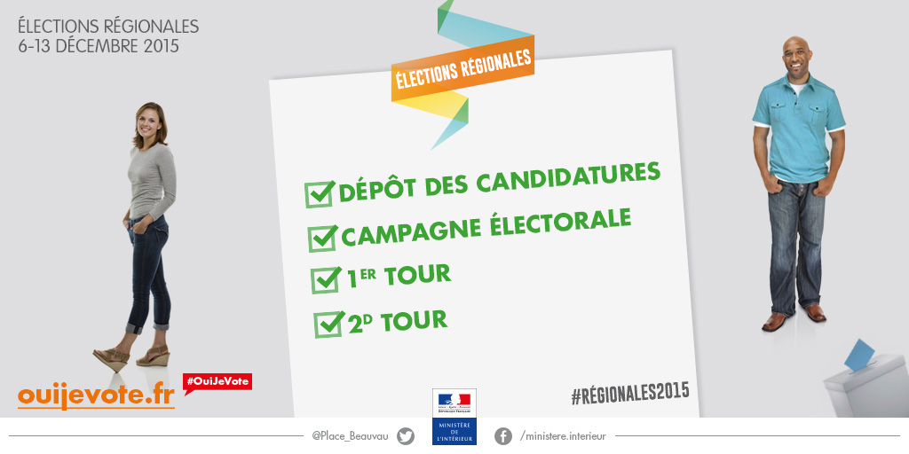 Candidatures pour le second tour des lections r gionales for Election ministere interieur