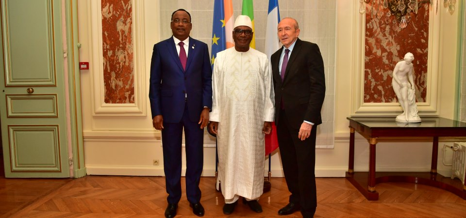 g rard collomb rencontre les pr sidents du niger et du mali l 39 actu du minist re actualit s. Black Bedroom Furniture Sets. Home Design Ideas
