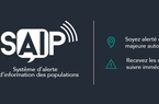 Application d'alerte et d'information des populations en cas de crise (SAIP)