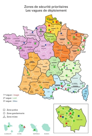Carte d'implantation des ZSP